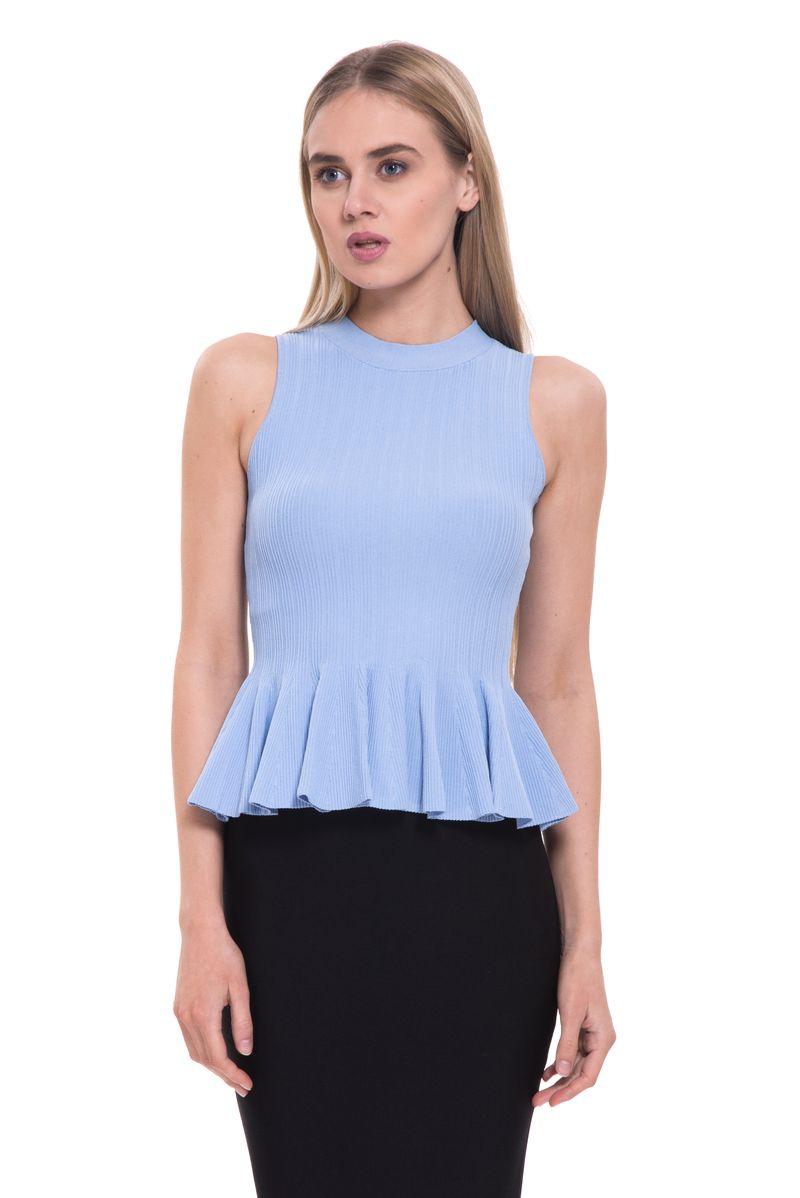 Топ женский Lusio, цвет: голубой. SS18-370061. Размер S (42/44)