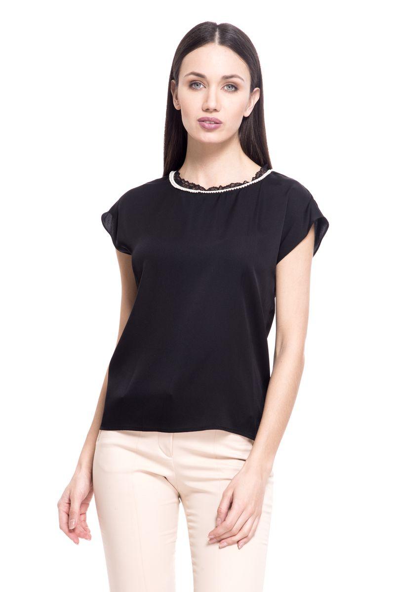 где купить Топ женский Lusio, цвет: черный. SS18-370016. Размер XS (40/42) по лучшей цене