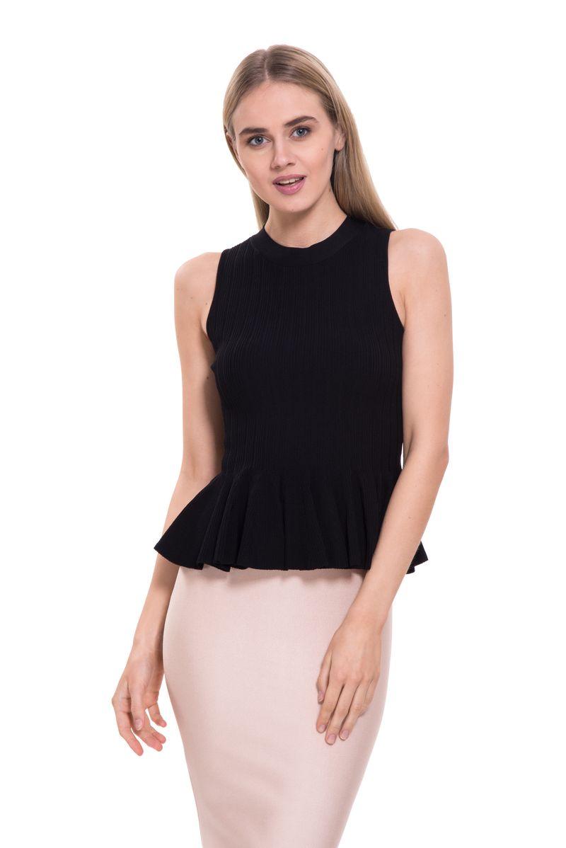 Топ женский Lusio, цвет: черный. SS18-370061. Размер M (44/46)SS18-370061