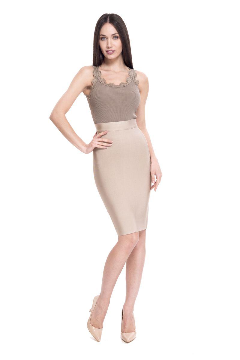 Юбка женская Lusio, цвет: коричневый. SK18-030000. Размер S (42/44)SK18-030000