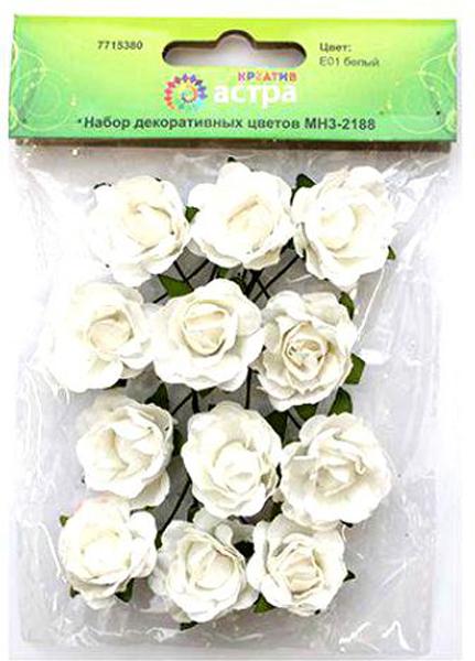Набор декоративных цветов Астра, цвет: белый, 3 х 1,5 см, 12 шт7715380_ E01 белыйБумажные цветы с проволочным стебельком могут использоваться в скрапбукинге, а также для декорирования открыток, рамок для фотографий, других видов творчества.Размер цветков: 3 х 1,5 см.В упаковке: 12 цветков.