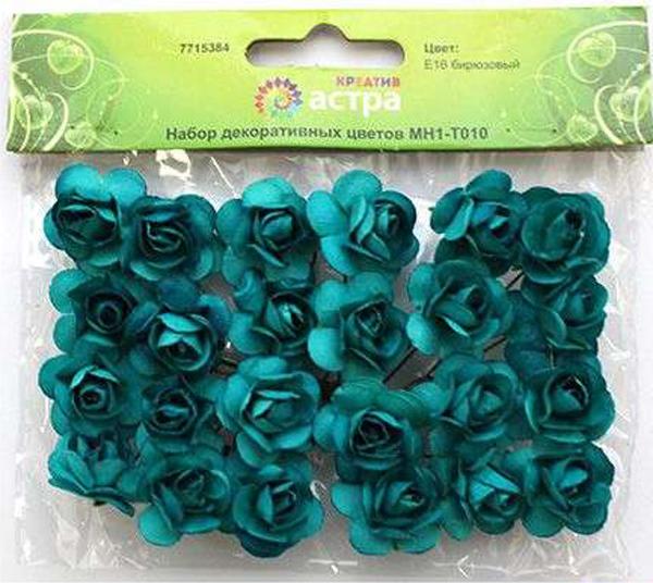 """Небольшие букетики на проволочном стебельке можно использовать в технике """"скрапбукинг"""", а также для  декорирования открыток, рамок для фотографий, в других видах творчества.Размер цветков: 2 х 2 см.В упаковке 24 цветка."""