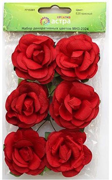Набор декоративных цветов Астра, цвет: красный 4,3 х 2 см, 6 шт7715381_E20 красныйЦветы из бумаги, со стебельком из проволоки. Назначение: скрапбукинг, создание венков, авторских новогодних украшений, оформление подарочных коробок и пакетов и многое другое.Размер цветков: 4,3 х 2 см.В упаковке: 6 цветков.