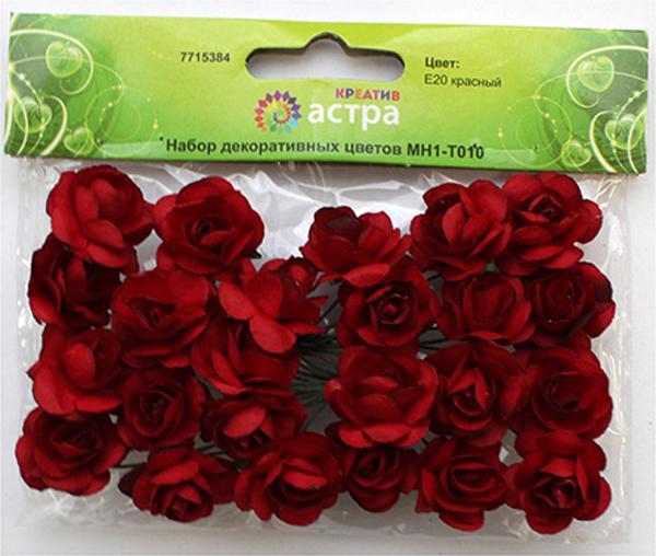 Набор декоративных цветов Астра, цвет: красный, 2 х 2 см, 24 шт7715384_E20 красныйНебольшие букетики на проволочном стебельке. Назначение: скрапбукинг, декорирование открыток, рамок для фотографий, другие виды творчества.Размер цветков: 2 х 2 см.В упаковке 24 цветка.