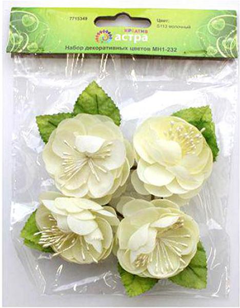 Бумажные цветки с основанием в форме кольца помимо скрапбукинга, подойдут для создания гирлянд, украшения свадебного банкета и многого другого.Размер цветков: 4,5 х 2,3 см.В упаковке 4 шт.