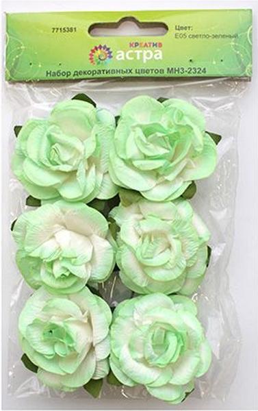 Набор декоративных цветов Астра, цвет: светло-зеленый, 4,3 х 2 см, 6 шт7715381_E05 светло-зеленыйЦветы из бумаги, со стебельком из проволоки. Назначение: скрапбукинг, создание венков, авторских новогодних украшений, оформление подарочных коробок и пакетов и многое другое.Размер: 4,3х2 см.В упаковке: 6 цветков.