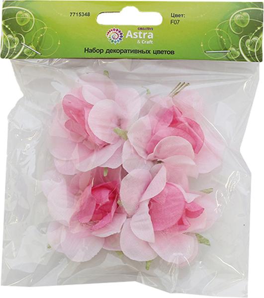 Бумажные цветки с воздушными полупрозрачными лепестками на коротком проволочном стебельке. Назначение: скрапбукинг, декорирование открыток, рамок для фотографий, другие виды творчества.Размер цветка: 5,5 х 2,5 см.В упаковке 4 цветка.