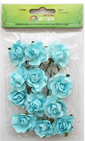 Набор декоративных цветов Астра, цвет: синий, 3 х 1,5 см, 12 шт7715380_E12 синийБумажные цветы с проволочным стебельком. Назначение: скрапбукинг, создание авторских бутоньерок, украшение предметов интерьера и другого.Размер: 3х1,5 см.В упаковке: 12 цветков.