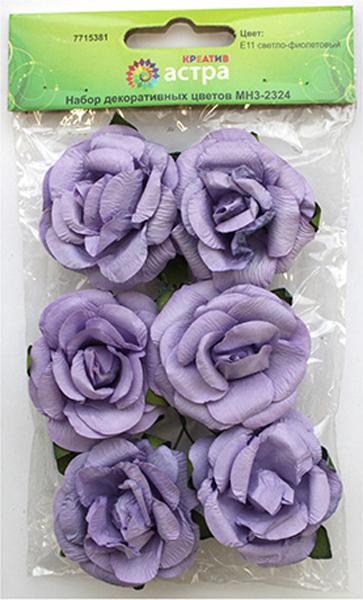 Набор декоративных цветов Астра, цвет: сиреневый, 4,3 х 2 см, 6 шт7715381_E11 светло-фиолетовыйЦветы из бумаги со стебельком из проволоки подойдут для работы в технике скрапбукинга, создания венков, авторских новогодних украшений, оформления подарочных коробок и пакетов и многого другого.Размер: 4,3 х 2 см.В упаковке 6 цветков.
