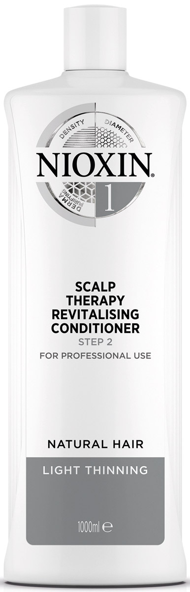 Nioxin Scalp Увлажняющий кондиционер (Система 1) Revitaliser System 1, 1000 мл81274125Укрепление и увлажнение волос с увлажняющий кондиционером 3-ступенчатой системы System 1 Nioxin для натуральных, с тенденцией к истончению волос. Благодаря технологии BioAmp кондиционер по уходу за волосами помогает сохранить водный баланс и делает волосы более упругими. Легкий кондиционер для объема для волос Nioxin специально предназначен для натуральных, с тенденцией к истончению волос для их укрепления и придания им визуальной густоты и объема. Кондиционер — это второй продукт 3-ступенчатой системы 1 Nioxin, который используется вместе с остальными продуктами данной серии, и предназначен для укрепления волос и усиления их структуры