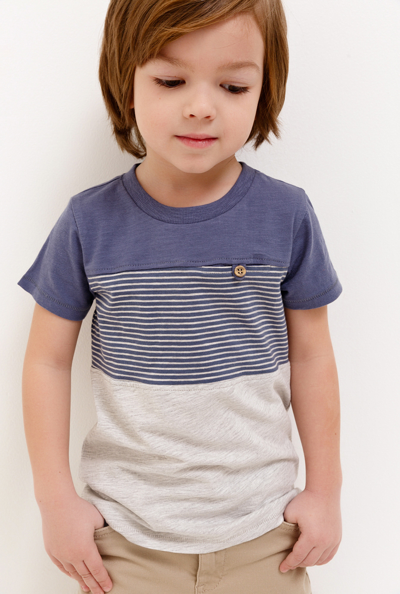 Футболка для мальчика Acoola Forlan, цвет: синий. 20120110098_500. Размер 116 белье acoola трусы для мальчиков 2 штуки цвет цветной размер 110 116 32124120066