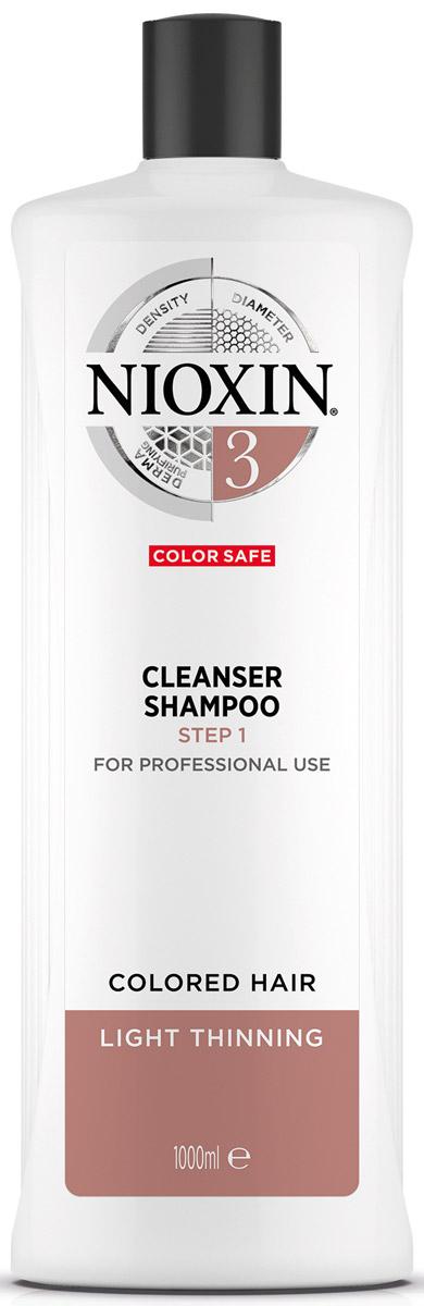 Nioxin Cleanser Очищающий шампунь (Система 3) System 3, 1000 мл nioxin питательная маска система 3 100мл