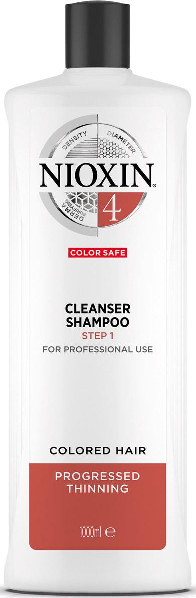 Nioxin Cleanser Очищающий шампунь (Система 4) System 4, 1000 мл nioxin scalp revitaliser system 4 увлажняющий кондиционер система 4 1000 мл