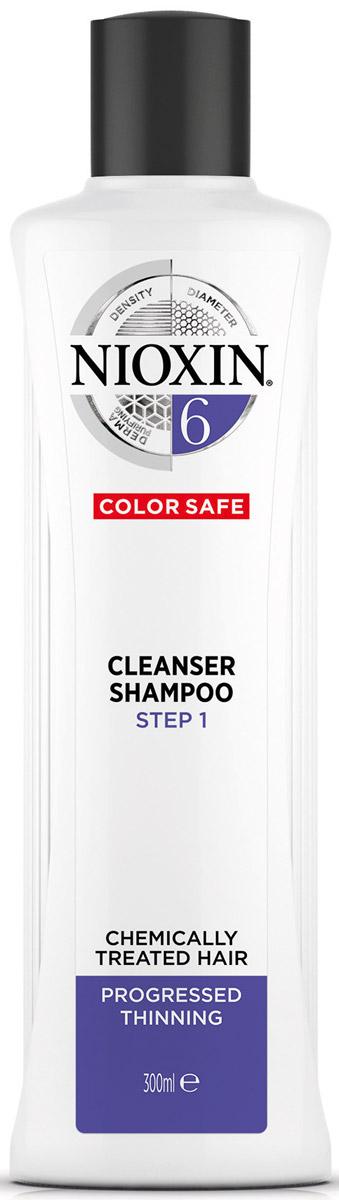 Nioxin Cleanser Очищающий шампунь (Система 6) System 6, 300 мл81274187Шампунь очищающий Система 6 предназначен для жестких волос, которые склонны к выпадению. Средство бережно очищает и смягчает кожу головы, снабжая ее полезными компонентами. Таким образом, шампунь от Ниоксин питает корни волос и предотвращает их выпадение. Также средство освежает кожу головы. После применения шампуня от Nioxin волосы становятся мягкими и здоровыми, они выглядят пластичными и блестящими, а кожа головы защищена от внешнего влияния.