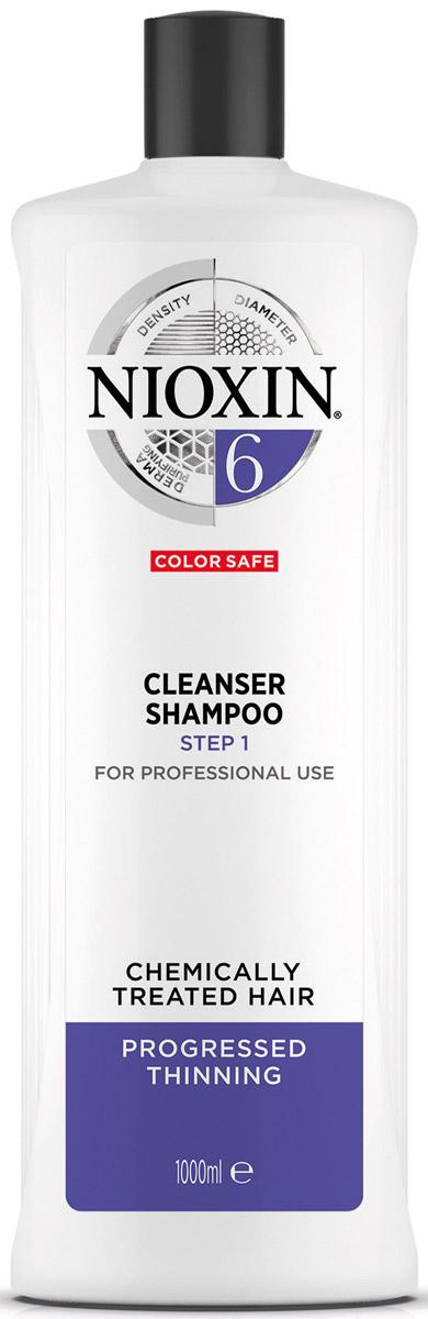 Nioxin Cleanser Очищающий шампунь (Система 6) System 6, 1000 мл nioxin питательная маска система 3 100мл