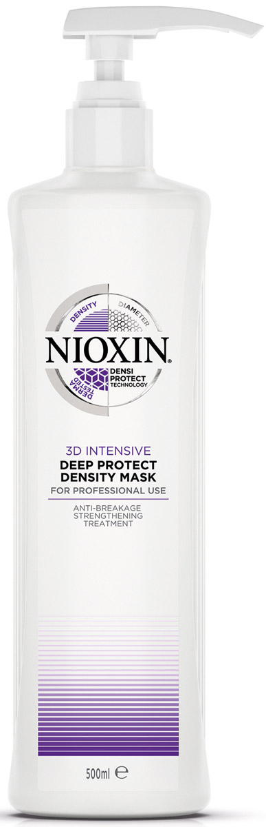 Nioxin Intensive Маска для глубокого восстановления волос Therapy Deep Repair Hair Masque 500 мл81274101Укрепление и защита поврежденных волос с маской для глубокого восстановления и защиты волос. Данное профессиональное средство для ухода за тонкими волосами и технология Densiprotect глубоко увлажняет сухие или окрашенные волосы. Продукт обеспечивает максимальную защиту волос и укрепляет волосяной стержень, снижая повреждения и ломкость. Легкая маска для глубокого восстановления и защиты волос Nioxin делает волосы мягкими и послушными.