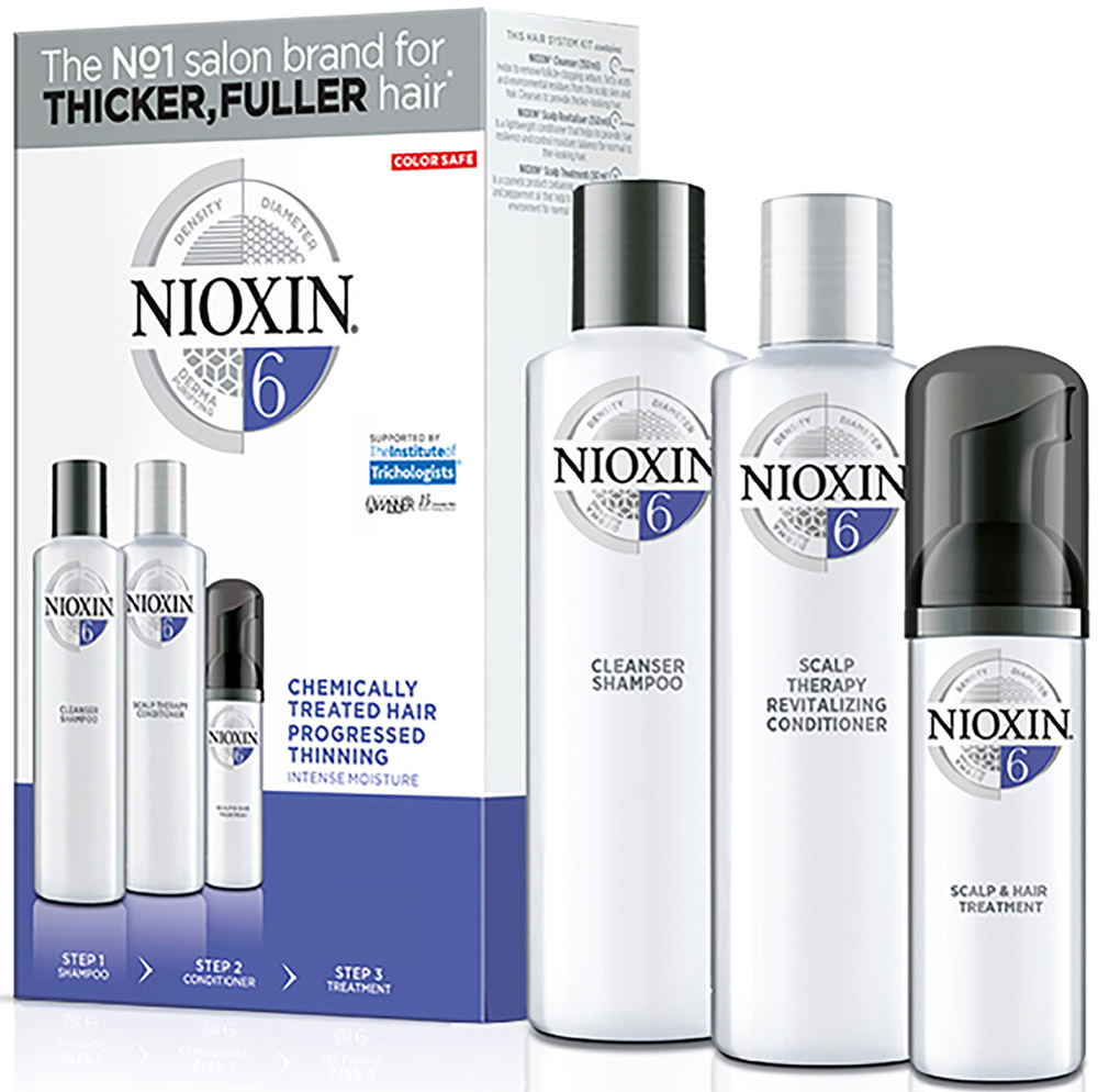 Nioxin System 6 Kit XXL - Набор (Система 6) 300 мл+300 мл+100 мл nioxin питательная маска система 3 100мл