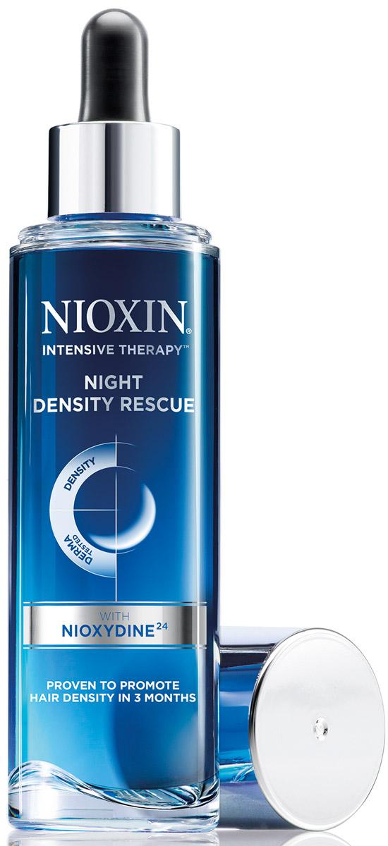 Nioxin Intensive Therapy Night Density Rescue - Ночная сыворотка для увеличения густоты волос 70 мл81550914Ночная сыворотка рекомендована как завершающий этап режимного ухода за волосами. Днем используется 3-х ступенчатая система ухода NIOXIN, ночью – ночная сыворотка для увеличения густоты волос. Cыворотка работает ночью, когда организм естественным образом создает идеальные условия для активного восстановления клеток и регенерации. NIOXYDINE 24 - мощная смесь антиоксидантов, нейтрализует свободные радикалы на поверхности кожи головы, помогая формированию здоровой среды, препятствует выпадению волос, связанному с процессами окисления на коже головы.