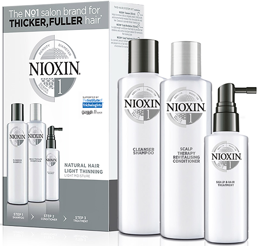 Nioxin System 1 Kit XXL  Набор (Система 1) 300 мл+300 мл+100 мл - Наборы