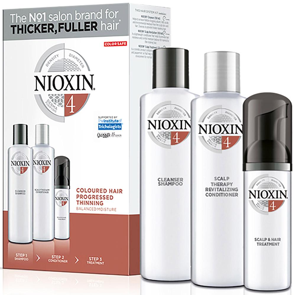 купить Nioxin Hair XXL Kit System 4 - Набор (Система 4) 300 мл+300 мл+100 мл по цене 3799 рублей
