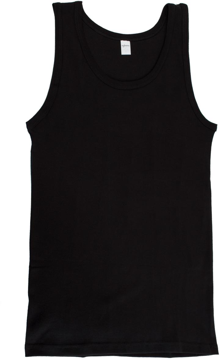 Майка бельевая мужская Rossoporpora Vogatore Spalla Larga, цвет: черный. CU003. Размер XXL (54)