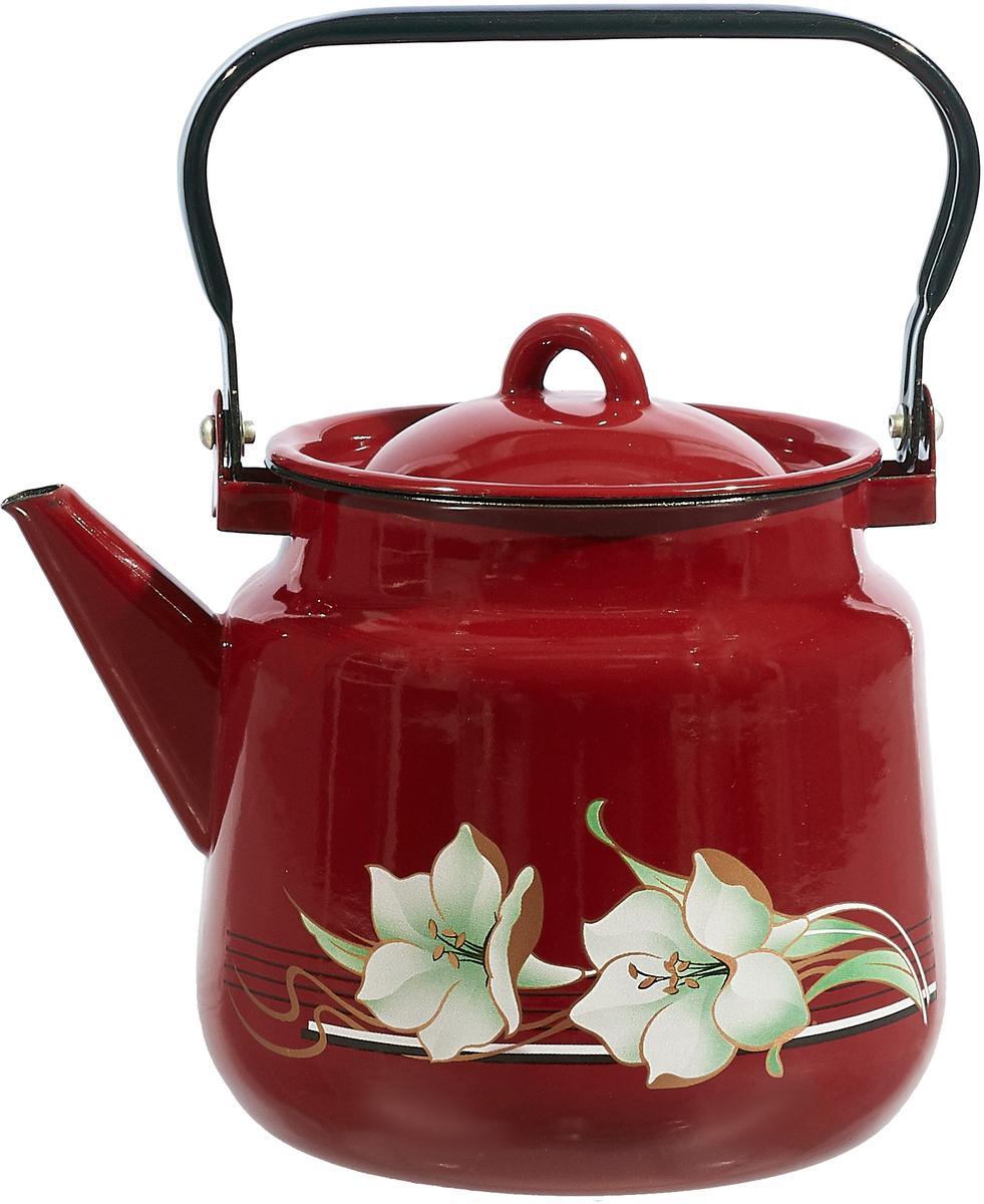 Чайник СтальЭмаль, цвет: бордовый, 3,5 л. 1с26/я1с26/с_бордовыйЧайник СтальЭмаль, цвет: бордовый, 3,5 л. 1с26/я