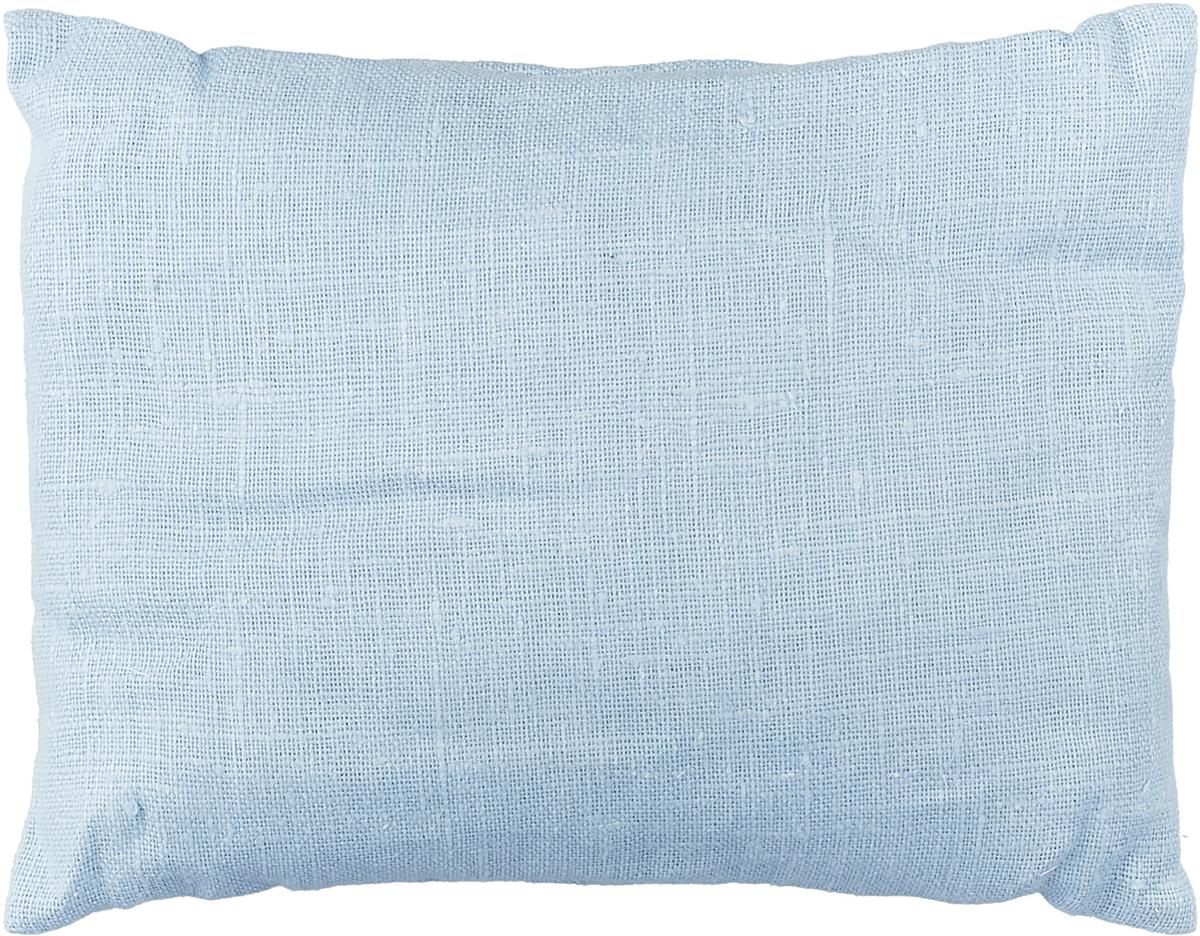 Подушка ортопедическая Эко. Классик, цвет: васильковый, 40 х 30 см8васПодушка очень удобна как для сна, поскольку имеет класическую форму, так и для выполнения сидячих поз йоги. Наволочка съемная, изготовлена из 100% льна.
