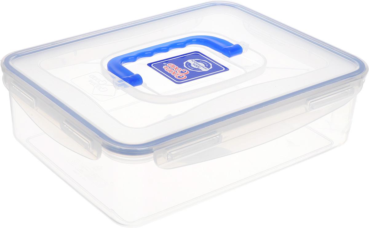 Контейнер Good&Good, цвет: прозрачный, синий, 2 л eax50049001 ebr50038901 good working tested
