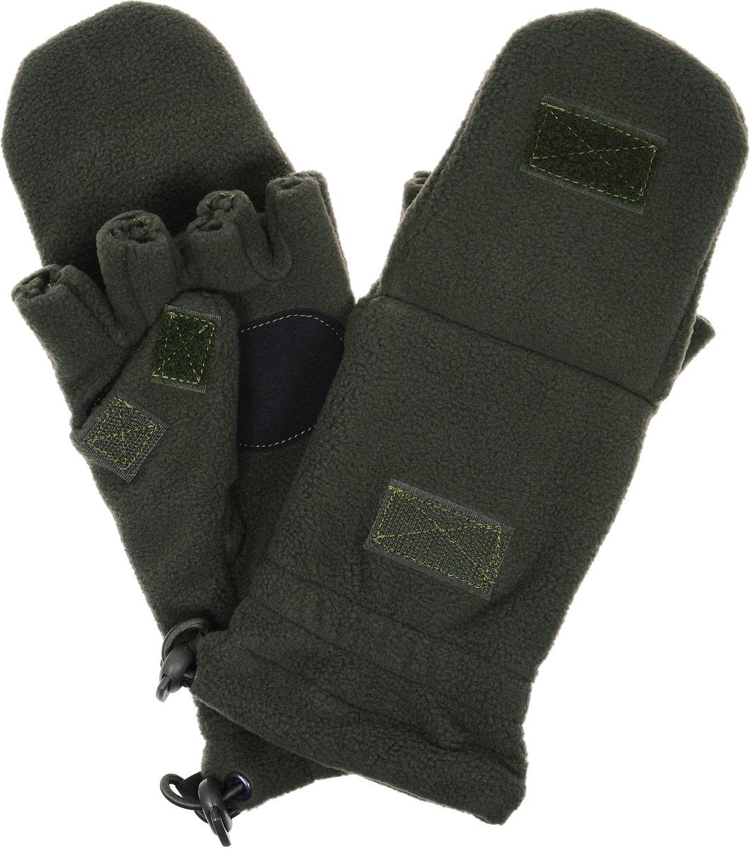 Перчатки спортивные Keotica, цвет: оливковый. 1081001. Размер S/M (7,5/8)1081001Перчатки-варежки из флиса с антипиллинговой обработкой. Благодаря этому увеличивается износостойкость материала.