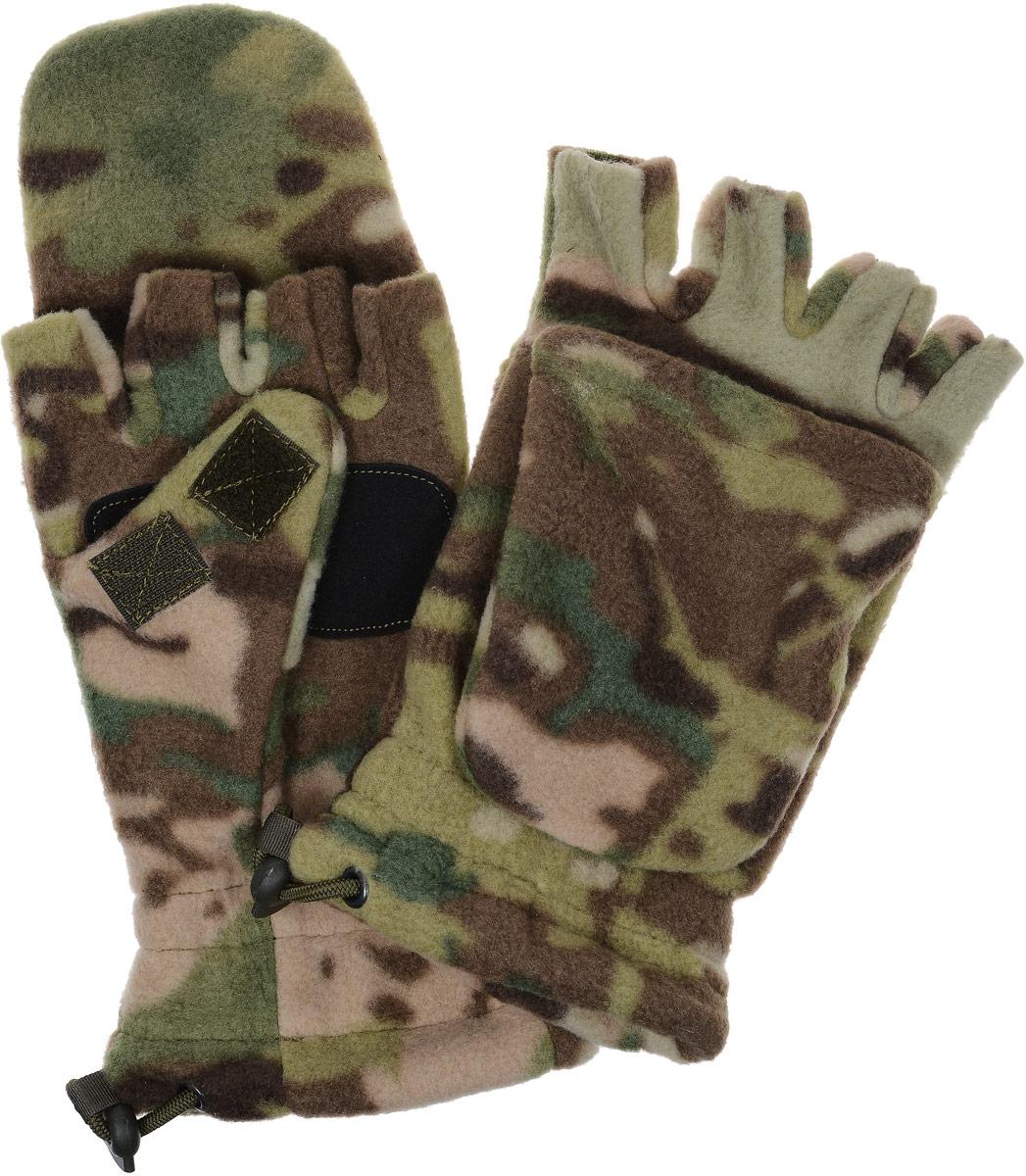 Перчатки спортивные Keotica, цвет: коричневый, зеленый. 1081003. Размер S/M (7,5/8)1081003Перчатки-варежки из флиса с антипиллинговой обработкой. Благодаря этому увеличивается износостойкость материала.