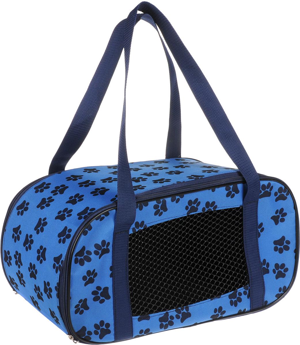Сумка-переноска для животных Теремок, цвет: синий, 44 х 19 х 20 см сумка переноска для животных теремок цвет голубой синий белый 44 х 19 х 20 см