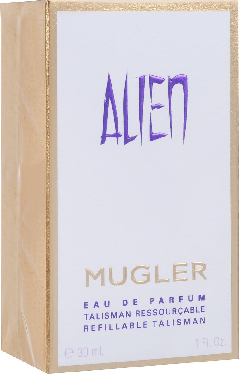 Thierry Mugler Парфюмированная вода Alien, женская, 30 мл5517Таинственный, мистический и яркий аромат с успокаивающим и умиротворяющим шлейфом. Легкие, нежные ноты индийского жасмина и чувственные, густые ноты амбры создают гармоничную композицию, которая подчеркнет женственность своей обладательницы.Уважаемые клиенты! Обращаем ваше внимание на то, что упаковка может иметь несколько видов дизайна. Поставка осуществляется в зависимости от наличия на складе.