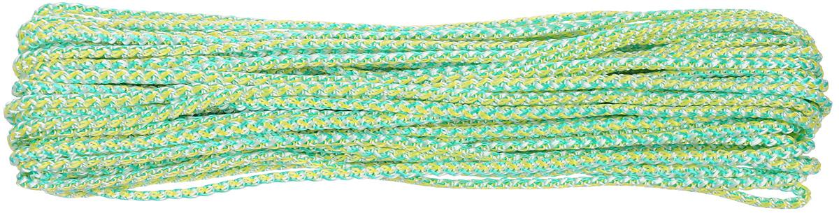 Шнур вязаный Шнурком, с сердечником, цвет: мультиколор, 4 мм, 20 м4В520_20_мультиколорШнур вязаный Шнурком, с сердечником, цвет: мультиколор, 4 мм, 20 м