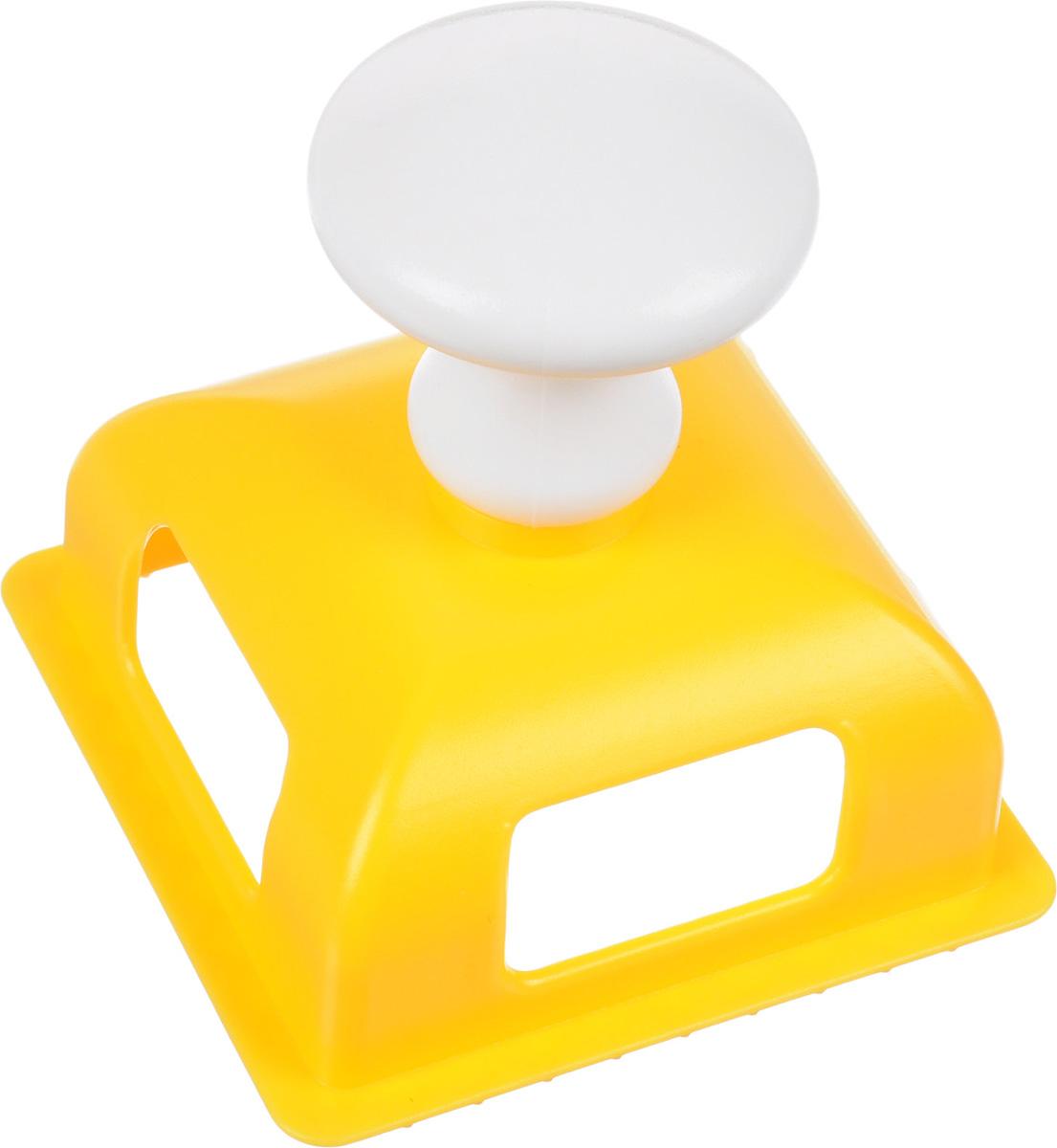 Форма для равиоли Мультидом Квадрат, цвет: желтый, белый форма для изготовления вареников мультидом вареничница фэ9 8