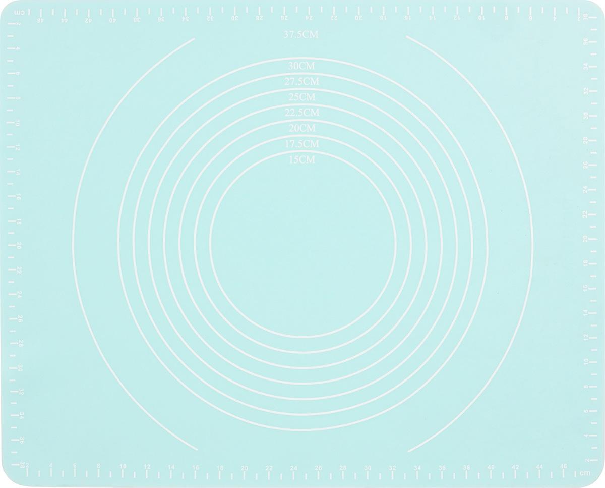 Коврик для теста Paterra, силиконовый, цвет: мятный, 40 х 50 см402-756_мятный