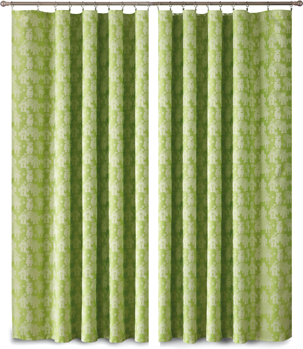 Комплект штор P Primavera Firany, на ленте, цвет: зеленый, высота 270 см, 2 шт. 11100731110073Комплект штор P Primavera Firany выполненный из полиэстровой жаккардовой ткани, великолепно украсит любое окно.Изящный рисунок и приятная цветовая гамма привлекут к себе внимание и органично впишутся в интерьер помещения. Этот комплект будет долгое время радовать вас и вашу семью!