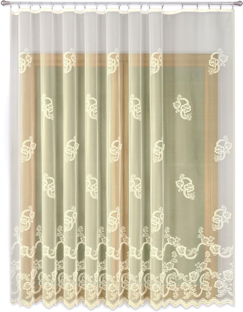 Тюль P Primavera Firany, на ленте, цвет: кремовый, высота 260 см, ширина 200 см1110095Тюль P Primavera Firany нежного цвета изготовлен из 100% полиэстера. Воздушная ткань привлечет к себе внимание и идеально оформит интерьер любого помещения. Полиэстер - вид ткани, состоящий из полиэфирных волокон. Ткани из полиэстера легкие, прочные и износостойкие. Такие изделия не требуют специального ухода, не пылятся и почти не мнутся. Крепление к карнизу осуществляется при помощи вшитой шторной ленты.