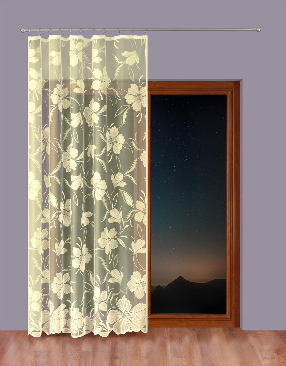 Тюль P Primavera Firany, на ленте, цвет: кремовый, высота 230 см, ширина 300 см1110217
