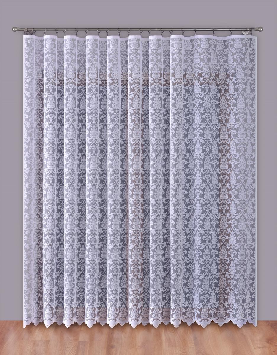 Тюль P Primavera Firany, на ленте, цвет: белый, высота 270 см, ширина 400 см. 11102471110247Тюль P Primavera Firany нежного цвета изготовлен из 100% полиэстера. Воздушная ткань привлечет к себе внимание и идеально оформит интерьер любого помещения. Полиэстер - вид ткани, состоящий из полиэфирных волокон. Ткани из полиэстера легкие, прочные и износостойкие. Такие изделия не требуют специального ухода, не пылятся и почти не мнутся. Крепление к карнизу осуществляется при помощи вшитой шторной ленты.