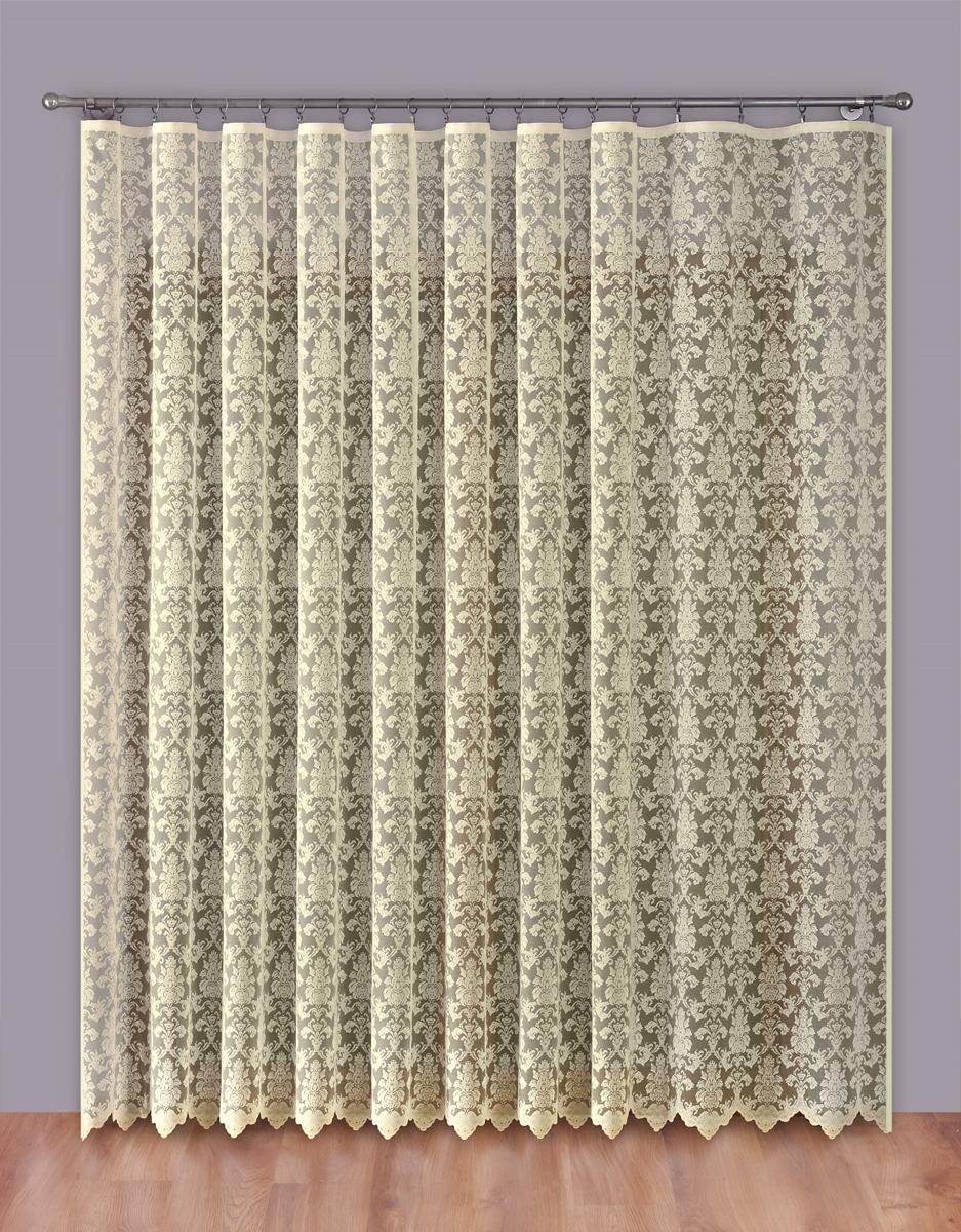 """Тюль """"P Primavera Firany"""" нежного цвета изготовлен из 100% полиэстера. Воздушная ткань привлечет к себе внимание и идеально оформит интерьер любого помещения. Полиэстер - вид ткани, состоящий из полиэфирных волокон. Ткани из полиэстера легкие, прочные и износостойкие. Такие изделия не требуют специального ухода, не пылятся и почти не мнутся. Крепление к карнизу осуществляется при помощи вшитой шторной ленты."""