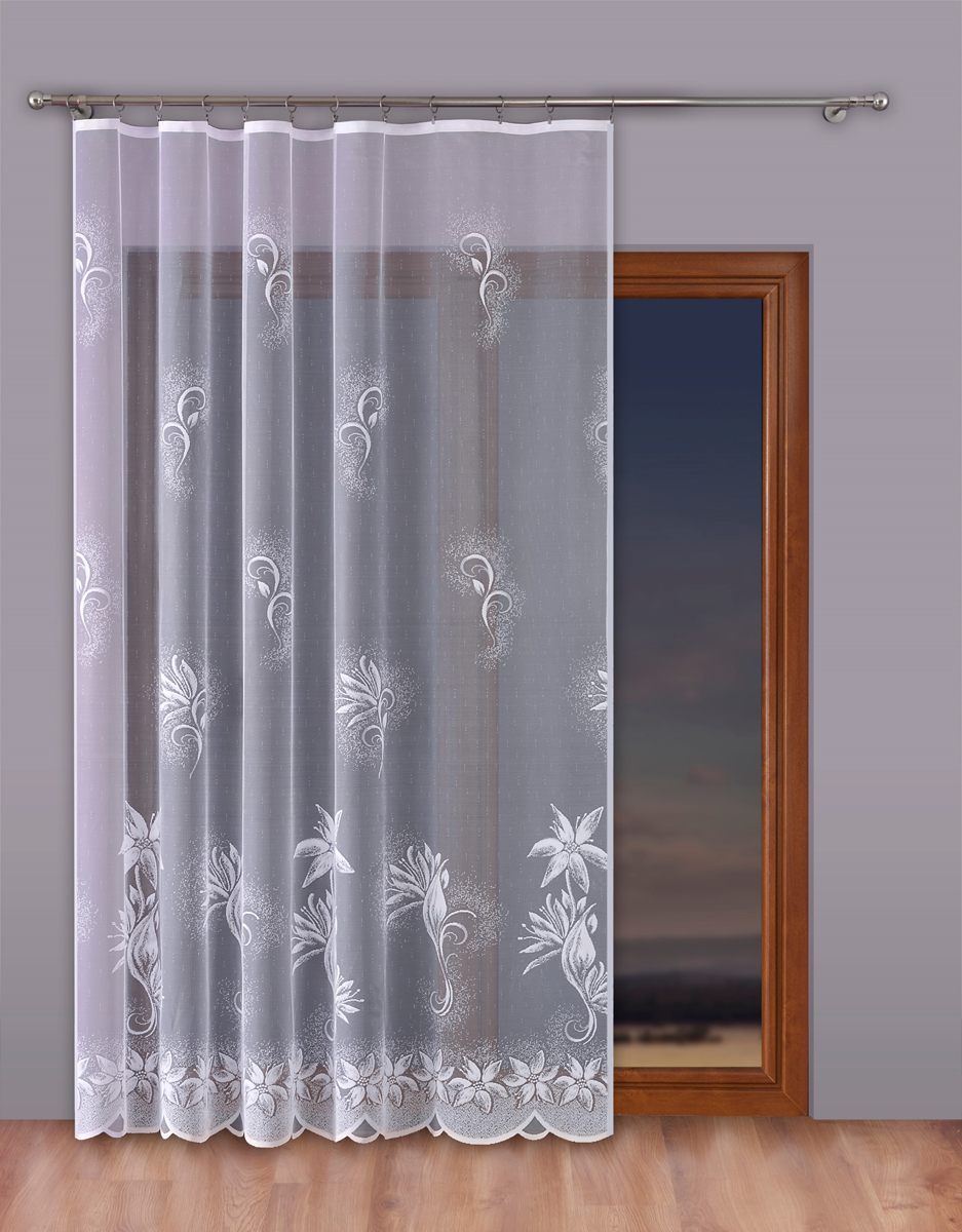 Тюль P Primavera Firany, на ленте, цвет: белый, высота 270 см, ширина 400 см. 11102551110255