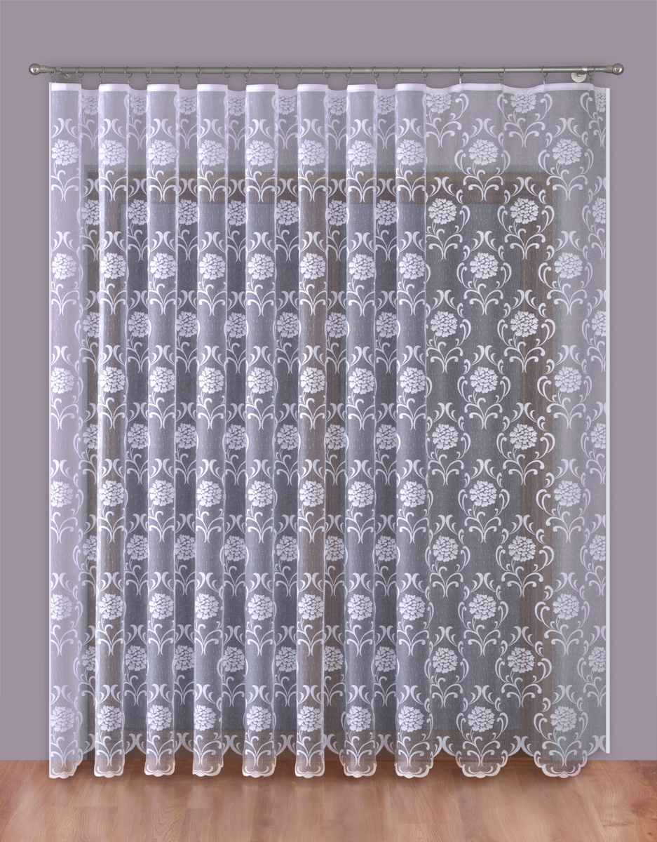 Тюль P Primavera Firany, на ленте, цвет: белый, высота 270 см, ширина 400 см. 11102751110275