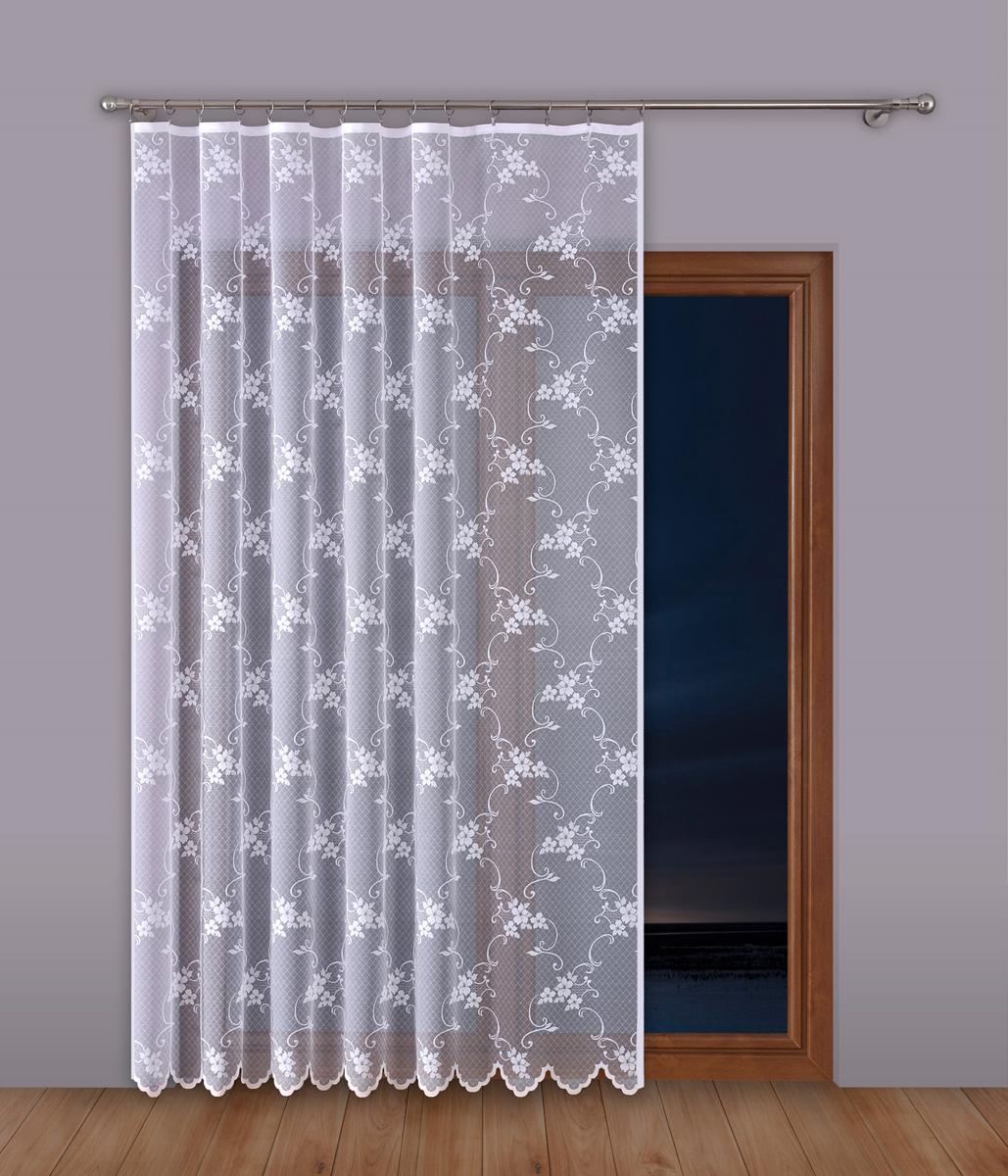 Тюль P Primavera Firany, на ленте, цвет: белый, высота 270 см, ширина 200 см. 11102821110282Тюль P Primavera Firany нежного цвета изготовлен из 100% полиэстера. Воздушная ткань привлечет к себе внимание и идеально оформит интерьер любого помещения. Полиэстер - вид ткани, состоящий из полиэфирных волокон. Ткани из полиэстера легкие, прочные и износостойкие. Такие изделия не требуют специального ухода, не пылятся и почти не мнутся. Крепление к карнизу осуществляется при помощи вшитой шторной ленты.