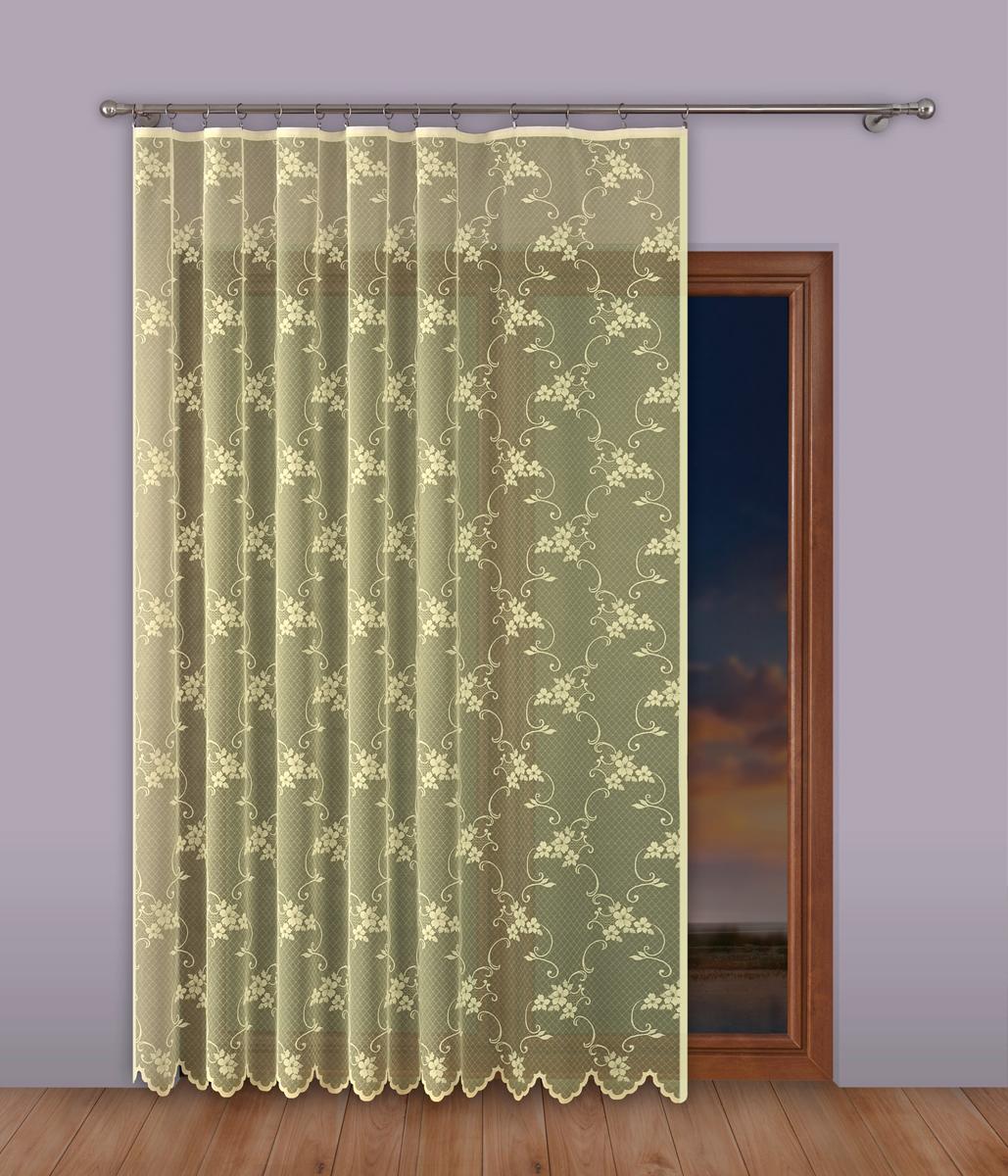 Тюль P Primavera Firany, на ленте, цвет: кремовый, высота 250 см, ширина 400 см. 1110285 тюль p primavera firany цвет кремовый высота 250 см 1110124