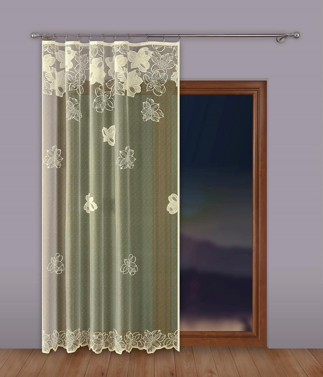 Тюль P Primavera Firany, на ленте, цвет: кремовый, высота 250 см, ширина 500 см. 1110346 тюль p primavera firany цвет кремовый высота 250 см 1110124