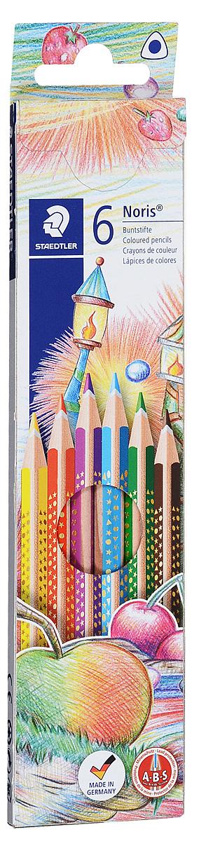 Staedtler Набор цветных карандашей Noris Club 6 цветов карандаши цветные noris club super jumbo 12 цветов точилка 129nc12p1