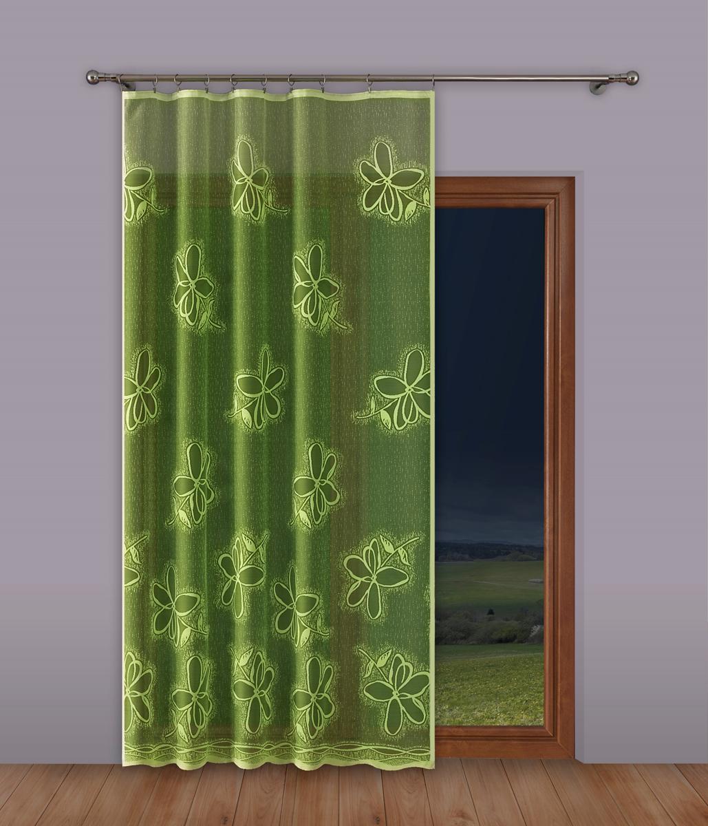 Тюль P Primavera Firany, на ленте, цвет: салатовый, высота 250 см, ширина 160 см. 1110380 primavera