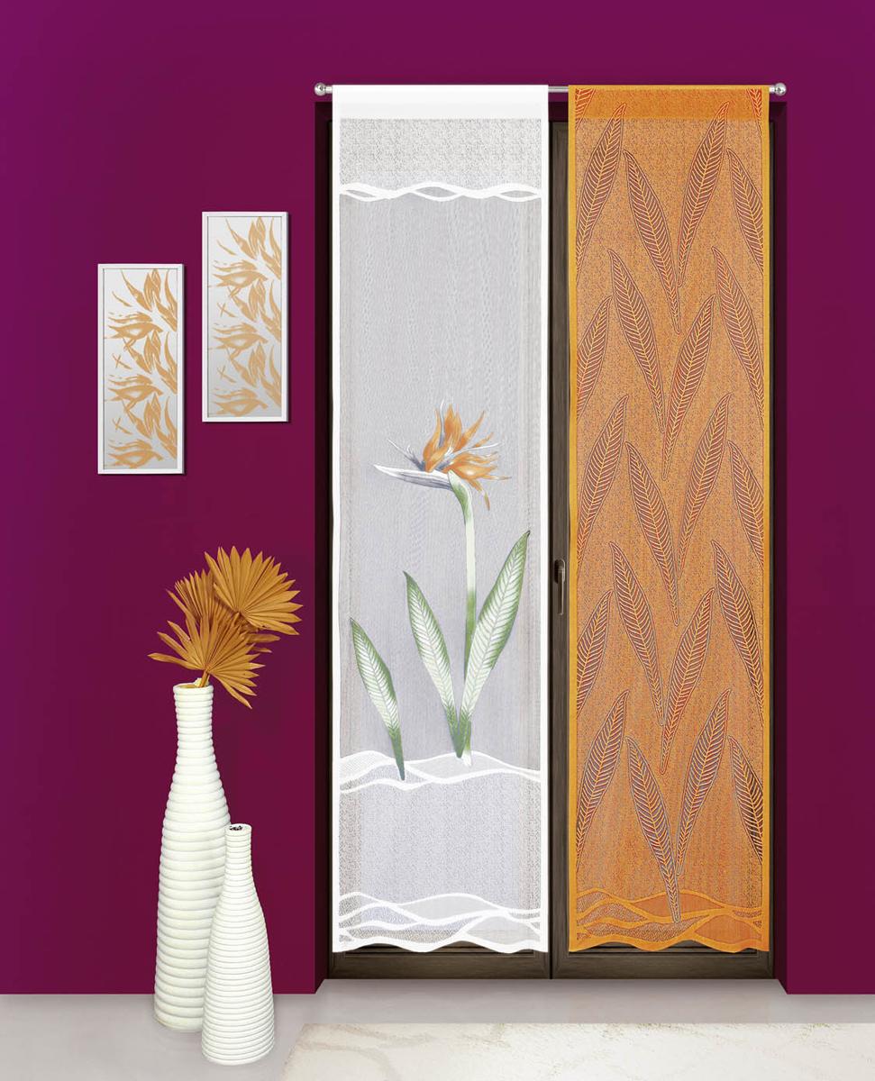 Комплект гардина-панно Wisan, цвет: белый, оранжевый, ширина 55 см, высота 240 см, 2шт3356Завод WISAN уже свыше 60 лет производит разные виды штор. Wisan является основным производителем гардин в Польше и одним из крупнейших в Европе.