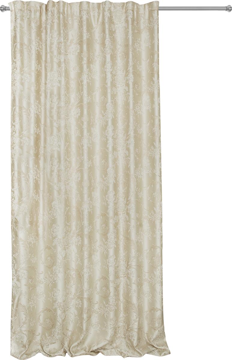 Портьера Zlata Korunka, на ленте, цвет: серый, высота 285 см. 777181777181ПортьераZlata Korunka из плотной ткани придаст современный вид любому интерьеру.Ткань изготовлена из 100% полиэстера. Полиэстер - вид ткани, состоящий из полиэфирных волокон. Ткани из полиэстера легкие, прочные и износостойкие. Такие изделия не требуют специального ухода, не пылятся и почти не мнутся. Крепление к карнизу осуществляется при помощи вшитой шторной ленты.