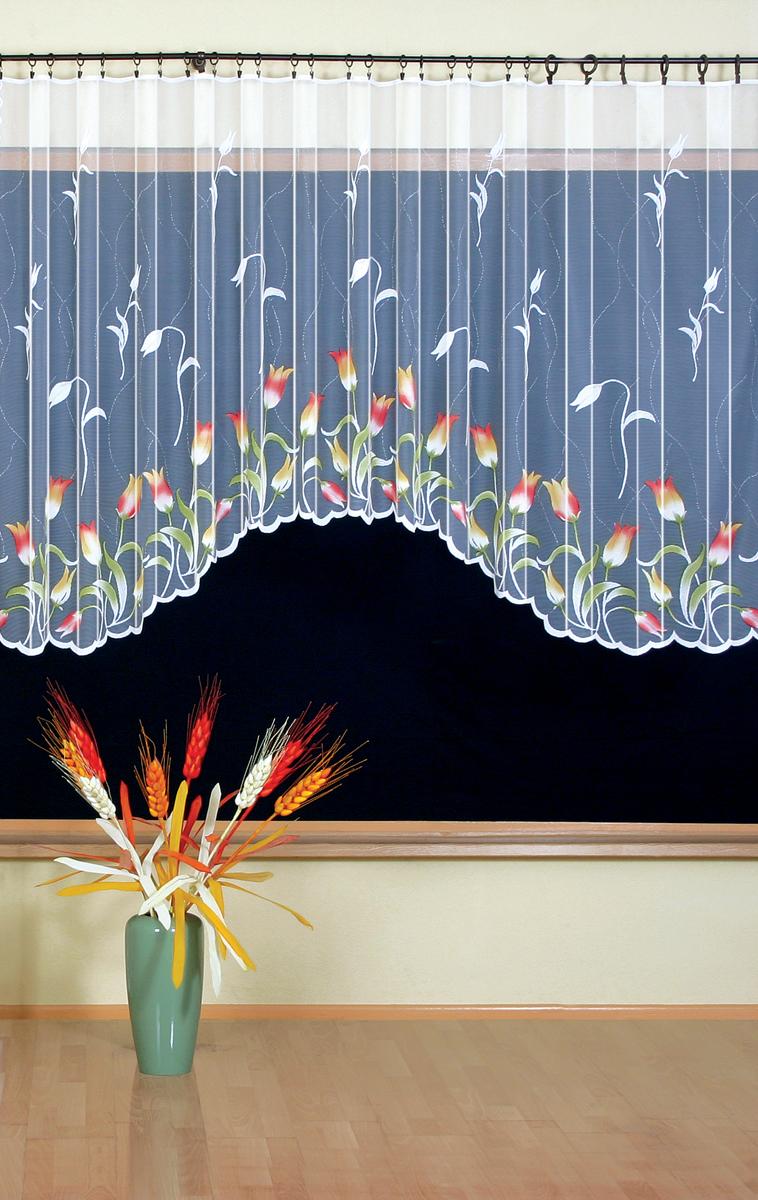 Гардина Wisan, на ленте, цвет: белый, высота 150 см, ширина 300 см wisan салфетка дорожка кшиштов цвет золотистый 60х120 см
